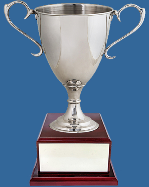 Nickel Silver Trophy Cup on Timber Base