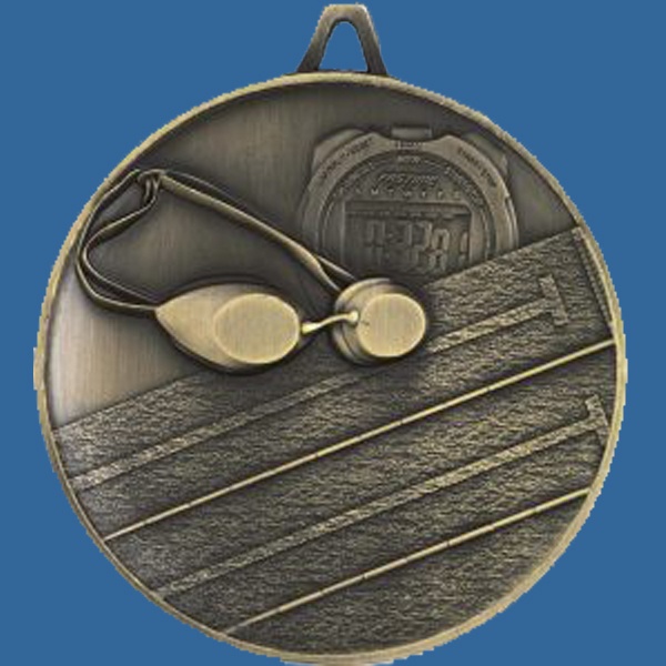 Antique Gold Heavy 63mm Medal