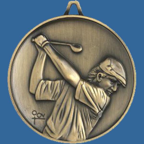 Antique Gold Heavy 63mm Medal