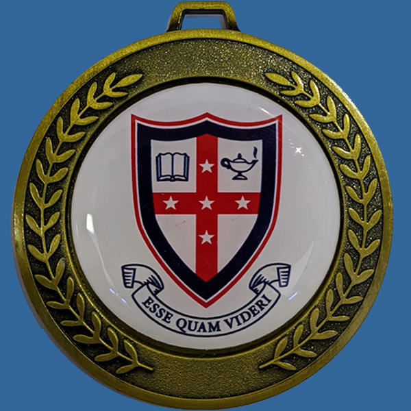 Prestige Heavy Design Gold 70mm Diameter Medal 50mm Custom Insert included Neck Ribbon included Can be engraved to back