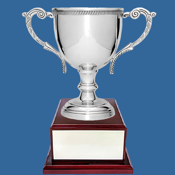 Prestige Silver Plated Cup on Timber Base