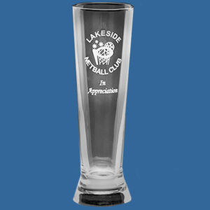 Pilsner Glass 380ml, Quality Sandblast Engrave to 1 side, Quantity Discounts