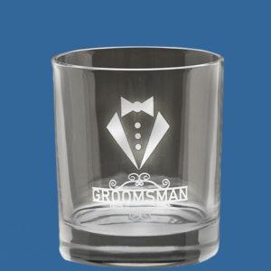 Value Whiskey Circle Glass 350ml, Quality Sandblast Engrave, Qty Discounts