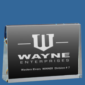 rystal Wedge Horizontal Award, quality sandblast engraving included, presentation box included, quantity discounts.