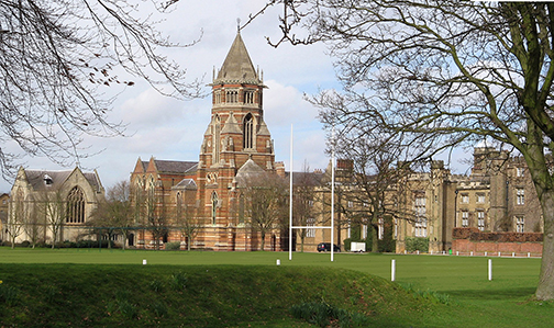 The Private School of Rugby in England where W.W Ellis picked up the football and ran with it.