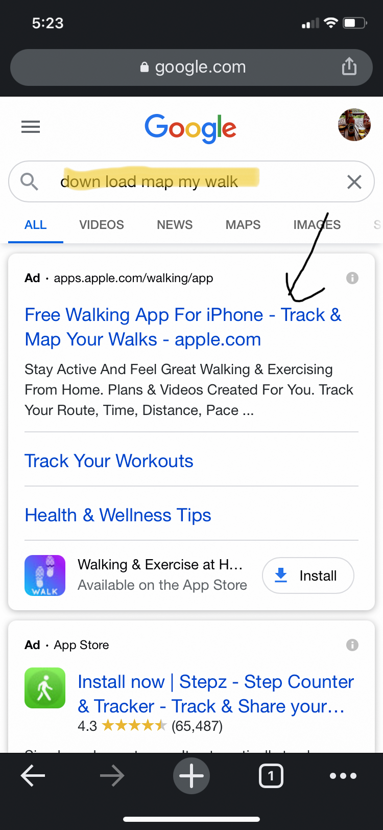 SERP Image result for Map My Walk on iPhone 10