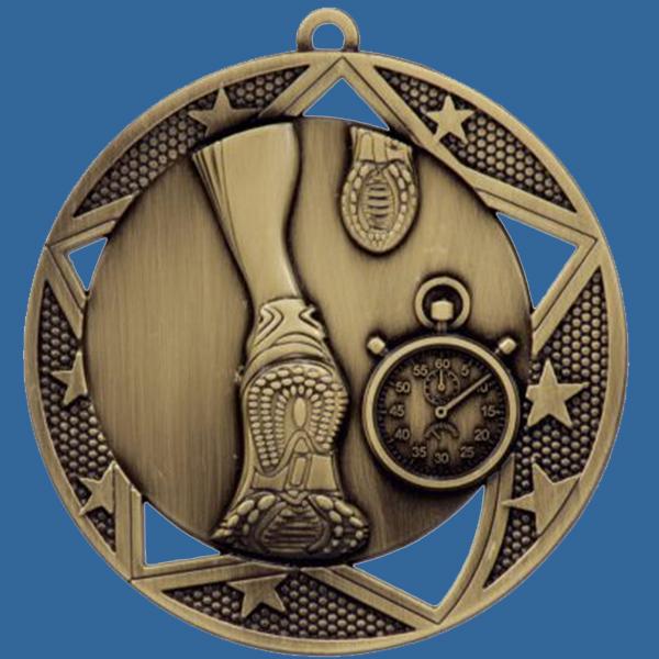 Athletics Running Medal Gold Galaxy Series MQ901Gt
