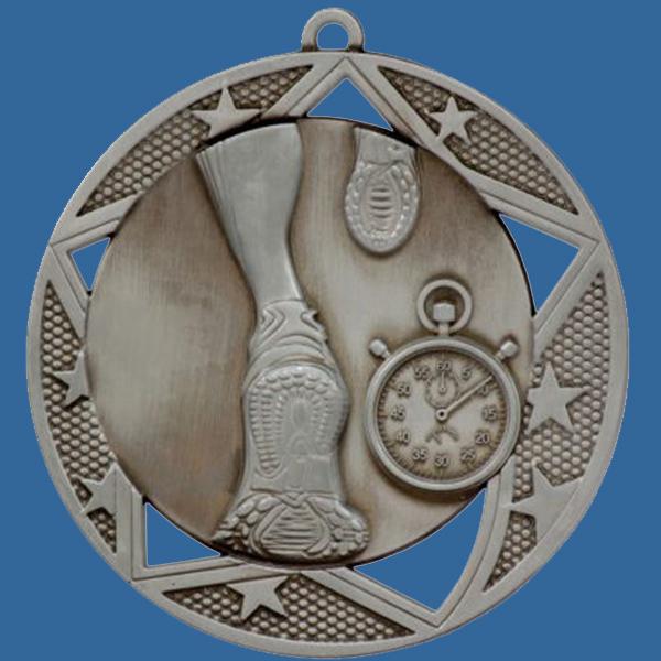 Athletics Running Medal Silver Galaxy Series MQ901St