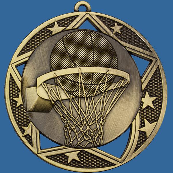 Basketball Medal Gold Galaxy Series MQ907Gt