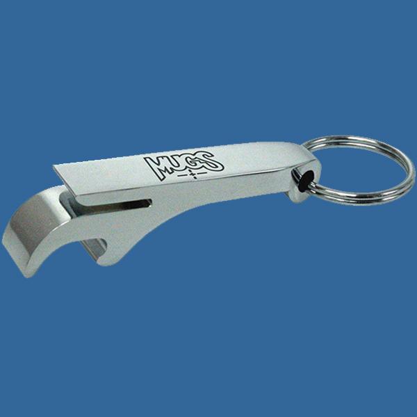 E186Se Keyring Metal Bottle Opener with engraving area