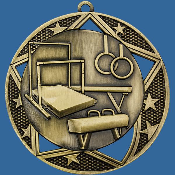 Gymnastics Medal Gold Galaxy Series MQ914Gt