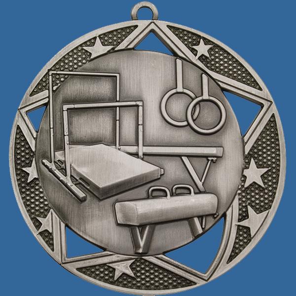 Gymnastics Medal Silver Galaxy Series MQ914St