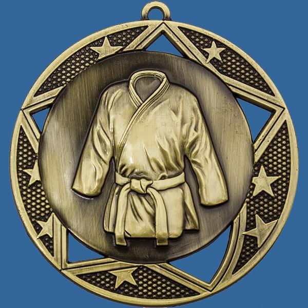 Karate Medal Gold Galaxy Series MQ923Gt