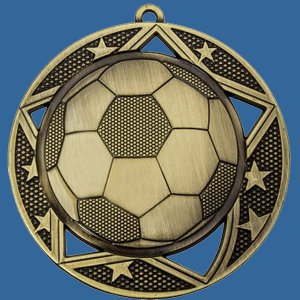 Soccer Football Medal Gold Galaxy Series MQ904Gt