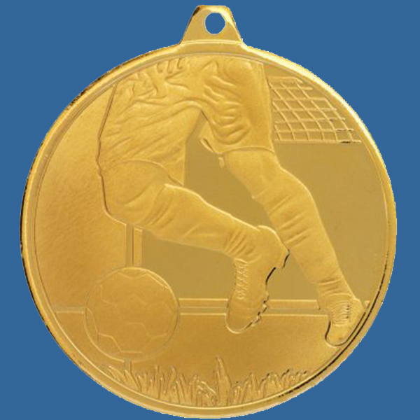 Soccer Football Medal Gold Glacier Frosted Series MZ904Gt