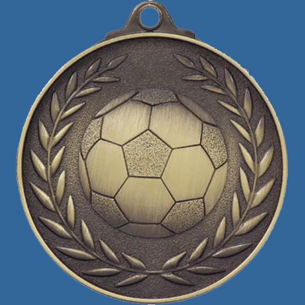 Soccer Football Medal Gold Wreath Series MX804Gt