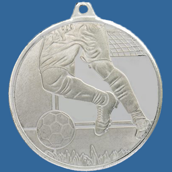 Soccer Football Medal Silver Glacier Frosted Series MZ904St