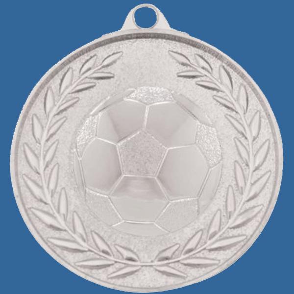 Soccer Football Medal Silver Wreath Series MX904St