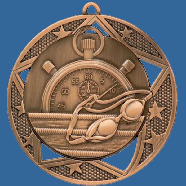 Swimming Medal Bronze Galaxy Series MQ902Bt