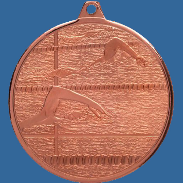 Swimming Medal Bronze Glacier Frosted Series MZ902Bt