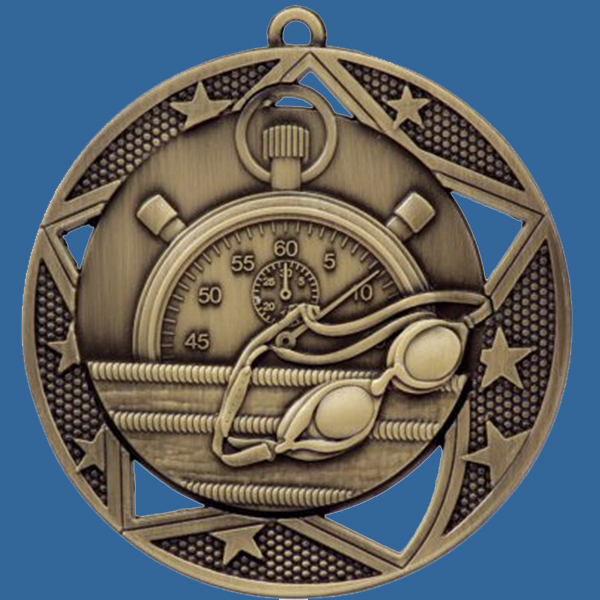 Swimming Medal Gold Galaxy Series MQ902Gt