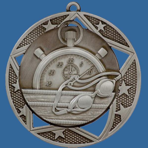 Swimming Medal Silver Galaxy Series MQ902St