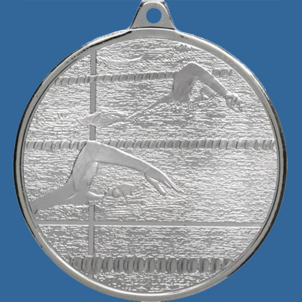 Swimming Medal Silver Glacier Frosted Series MZ902St